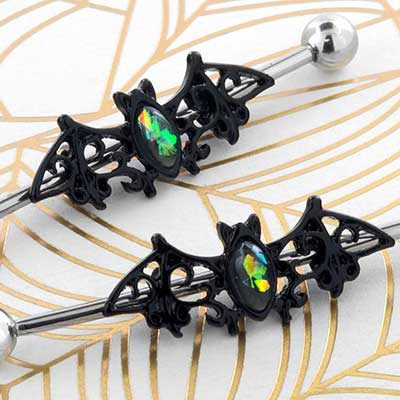 Synthetic Opal Bat Industrial Barbell