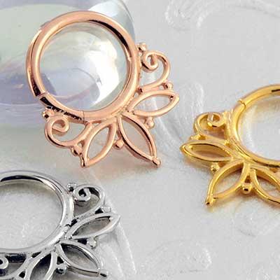 Flourish Seamless Septum Ring