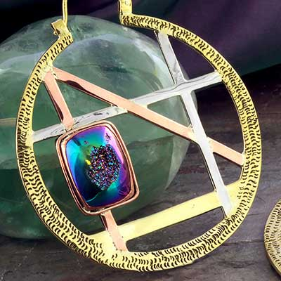 Alchemy Hoop Design with Druzy