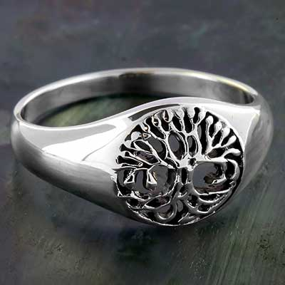 Silver Celtic Tree of Life Ring