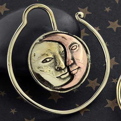 Brass Solstice Hoops