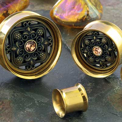 Gold Colored Victorian Plugs