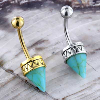Synthetic Turquoise Point Navel