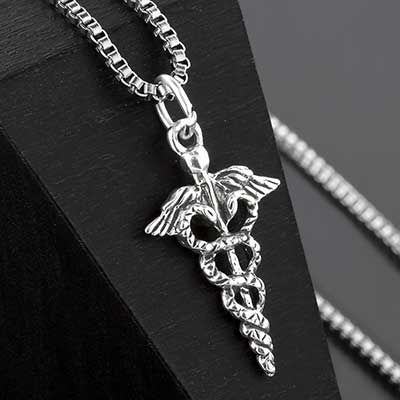 Silver Medical Symbol Necklace