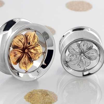 Steel Hibiscus Flower Eyelets