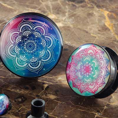 Acrylic Mandala Plugs