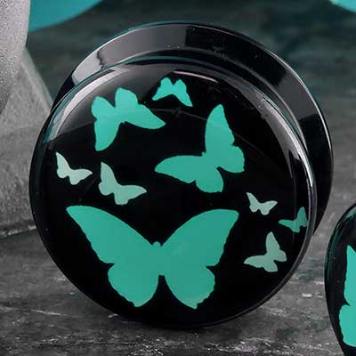 Acrylic Butterfly Plugs