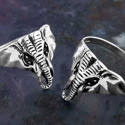 Silver Bull Elephant Ring