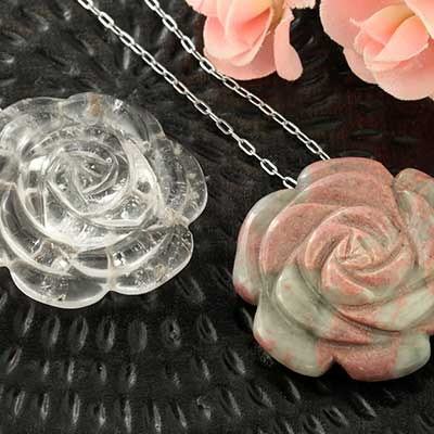 Stone Rose Necklace