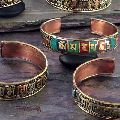 Om Padme Mani Hum Mantra Bracelet