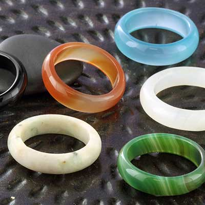 Stone Band Rings