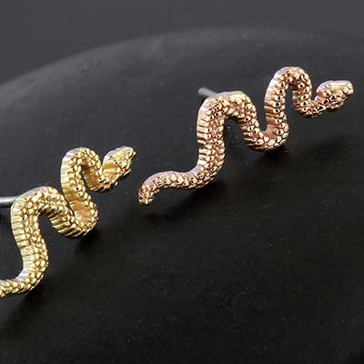 14k Gold Snake Threadless End