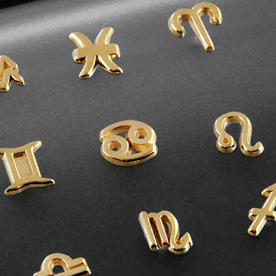 14k Gold Zodiac Threadless End