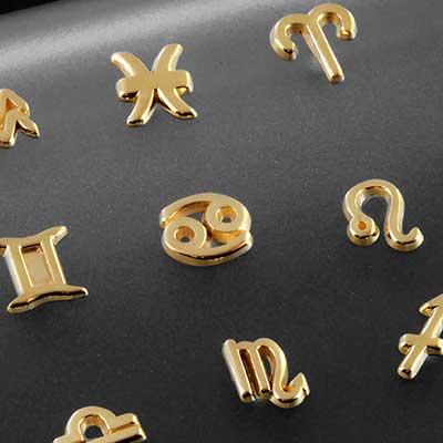 14k Gold Zodiac Threadless End
