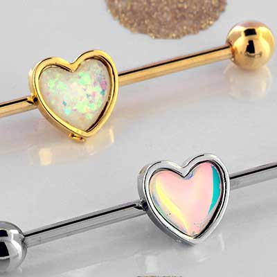 Heart Industrial Barbell