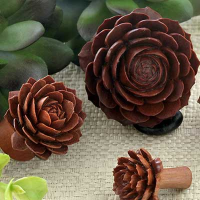 Sabo Wood Lola Succulent Plugs