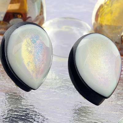 Glass Dichroic Shield Weights (Black with Pink/Gold)