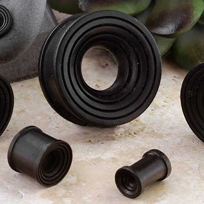 Notched Concave Arang Wood Eyelets