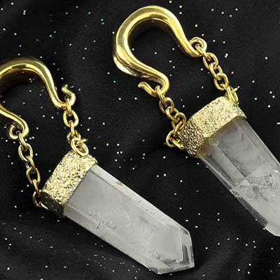 Solid Brass and Tourmalated Crystal Bit Weights