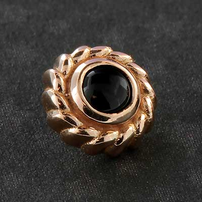 18k Gold Purity Threaded End