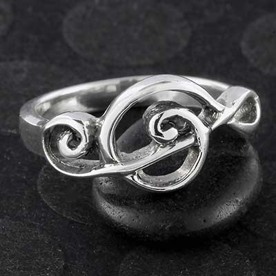 Silver Treble Clef Ring