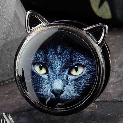 Black Coat Cat Plugs