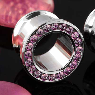 Titanium Gemmed Eyelet (Lilac)