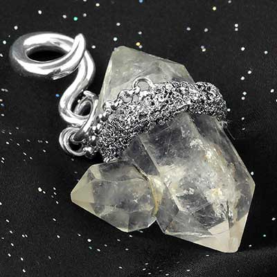 Silver and Quartz Crystal Weights
