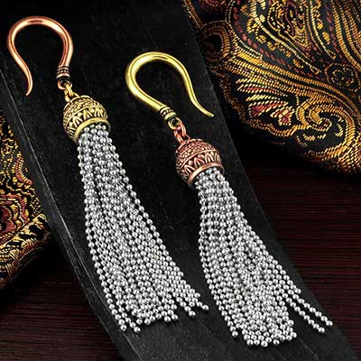 Mixed Metal Tassel Weights
