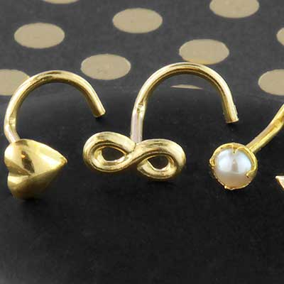 9k Yellow Gold Nosescrew