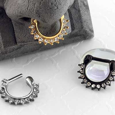 Crystal Paved Septum Clicker