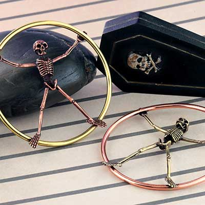 Brass and Copper Skeleton Hoops