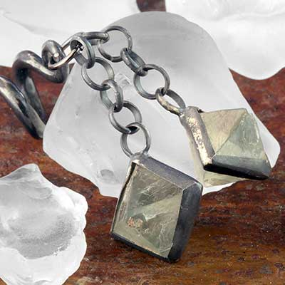 Oxidized Silver and Double Fluorite Cube Weights