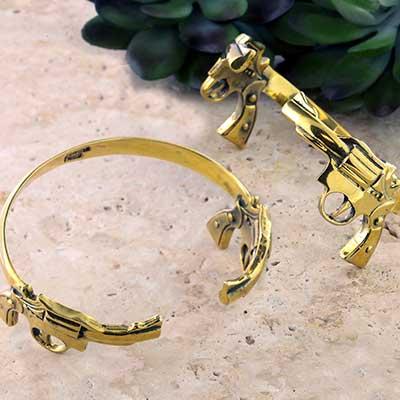 Brass Twin Big Pistol Bracelet