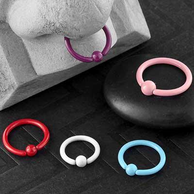 Ceramic Plated Captive Bead Ring