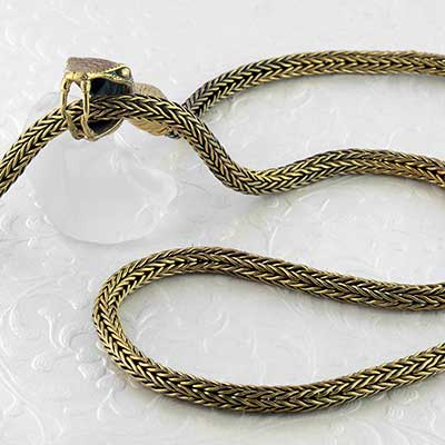 Brass Ouroboros Necklace