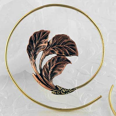 Brass Autumn Leaf Coil Design