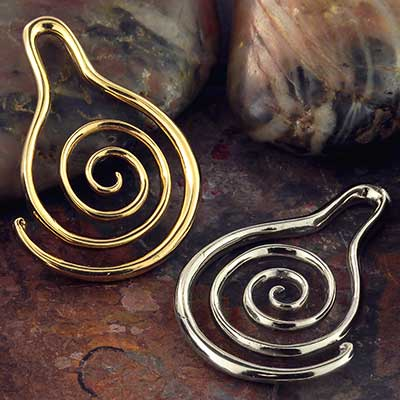 Brass Spiral Droplet Design
