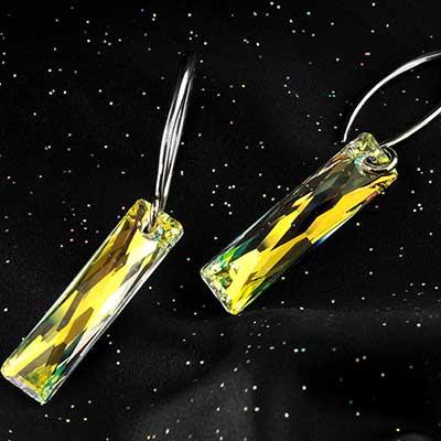 AB Swarovski Crystal Design with White Brass Hooks