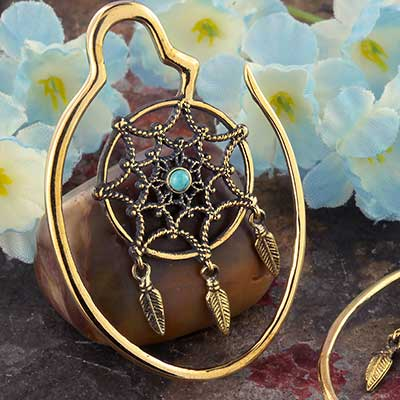Brass Dream Catcher Hoop Design