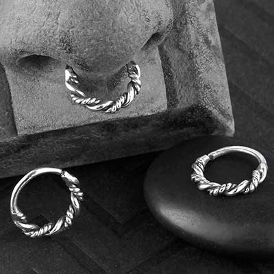 Silver Twisted Seamless Ring