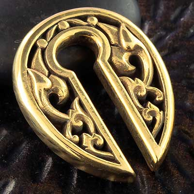 Brass Antique Keyhole Weights