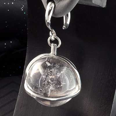 Sterling Silver and Quartz Globe Weights