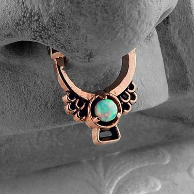 Copper Muyal Septum Clicker Ring
