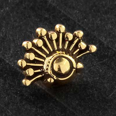 14k Gold Burst Threaded End