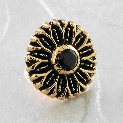Gold Daisy Threadless End