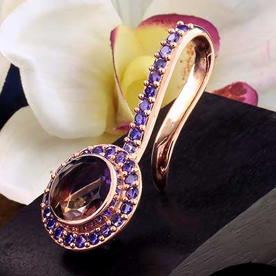 Rose Gold Plated Brilliant Weights with Ametrine