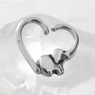 Elephant Love Seamless Ring