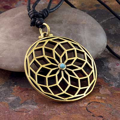 Brass Sacred Geometry Necklace