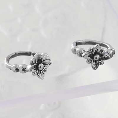 Silver Garden Flower Seamless Ring